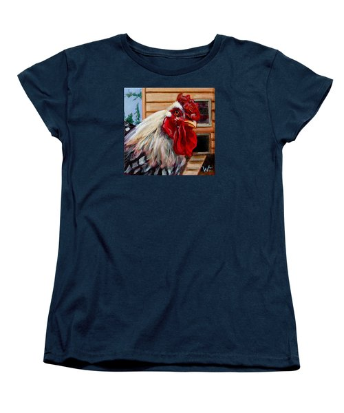 Women's T-Shirt (Standard Cut) featuring the painting Roopert by Pattie Wall