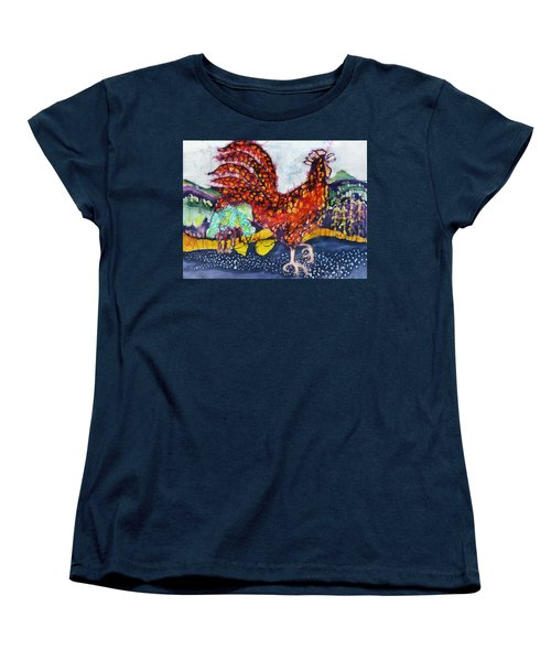 Rooster In The Morning Women's T-Shirt (Standard Cut)