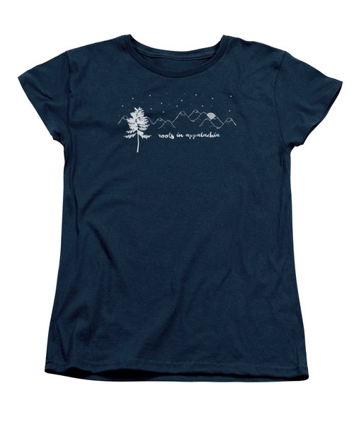 Women's T-Shirt (Standard Cut) featuring the digital art Roots In Appalachia by Heather Applegate
