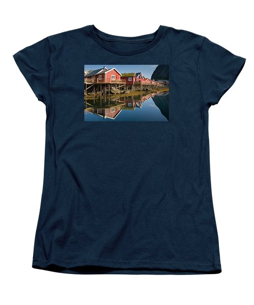 Rorbus With Reflections Women's T-Shirt (Standard Cut) by Aivar Mikko