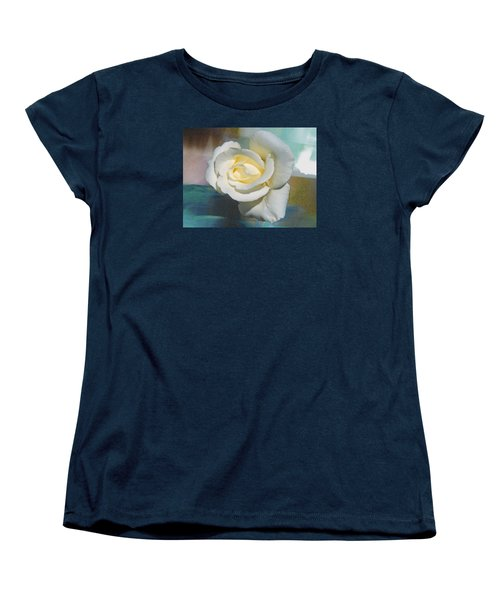 Women's T-Shirt (Standard Cut) featuring the photograph Rose And Lights by Helen Haw