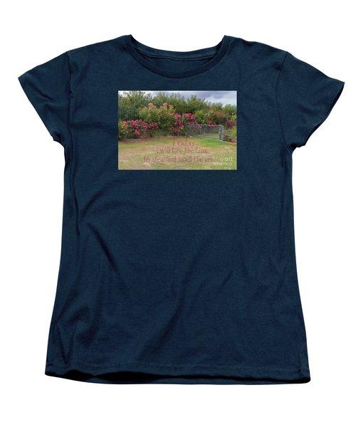 Rose Garden Women's T-Shirt (Standard Cut) by Elaine Teague
