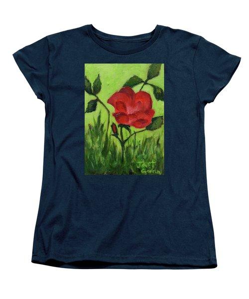 Rose Women's T-Shirt (Standard Cut) by Janet Garcia