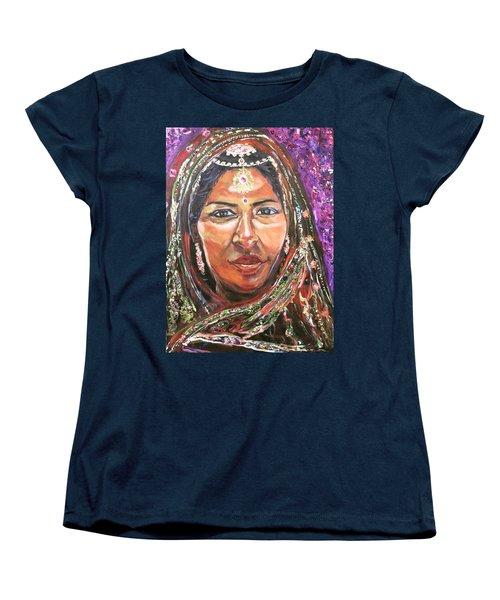 Women's T-Shirt (Standard Cut) featuring the painting Roseanne Kala - True Colors by Belinda Low