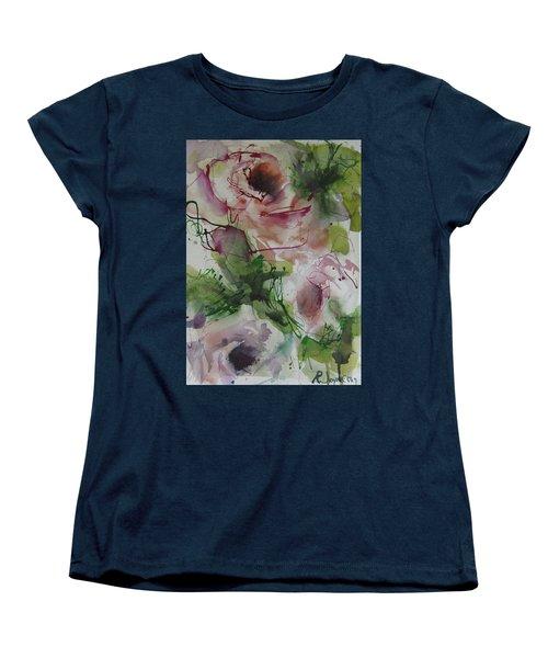 Women's T-Shirt (Standard Cut) featuring the painting Rosebuds by Robert Joyner
