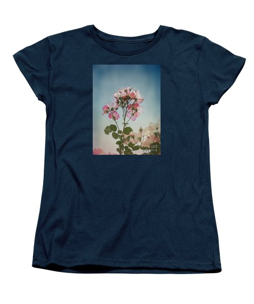 Roses In The Sky Women's T-Shirt (Standard Cut) by Elaine Teague