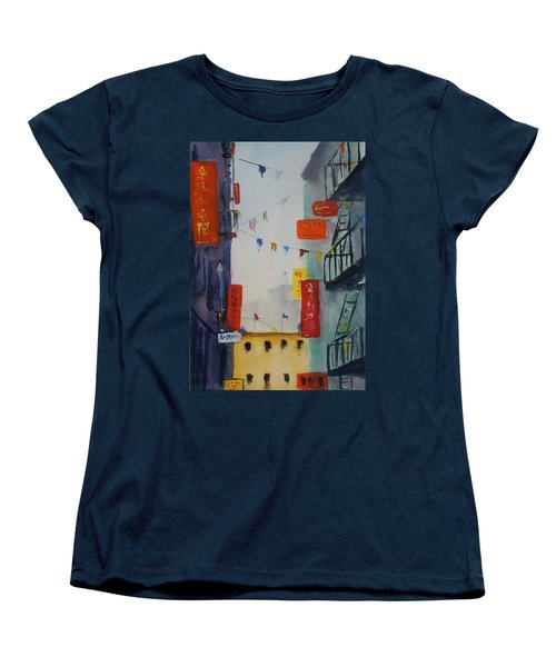 Ross Alley1 Women's T-Shirt (Standard Cut) by Tom Simmons
