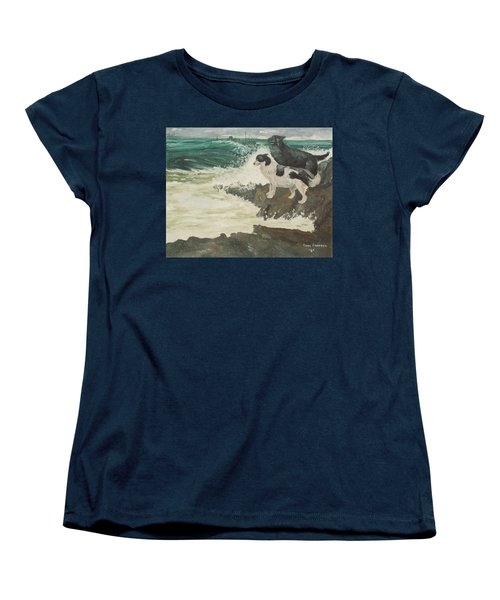 Women's T-Shirt (Standard Cut) featuring the painting Roughsea by Terry Frederick