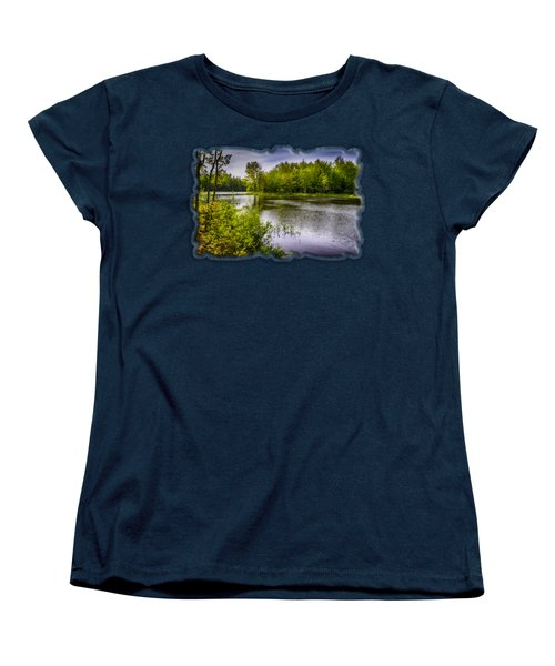Women's T-Shirt (Standard Cut) featuring the photograph Round The Bend In Oil 36 by Mark Myhaver