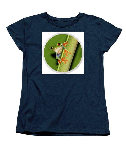 Women's T-Shirt (Standard Cut) featuring the photograph Round Towel Frog by Myrna Bradshaw