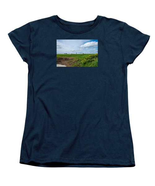 Round Tower Portrane Women's T-Shirt (Standard Cut) by Martina Fagan