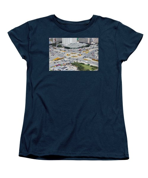 Women's T-Shirt (Standard Cut) featuring the photograph Roundabout In Warsaw by Chevy Fleet