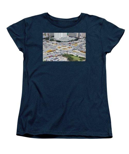 Roundabout In Warsaw Women's T-Shirt (Standard Cut) by Chevy Fleet