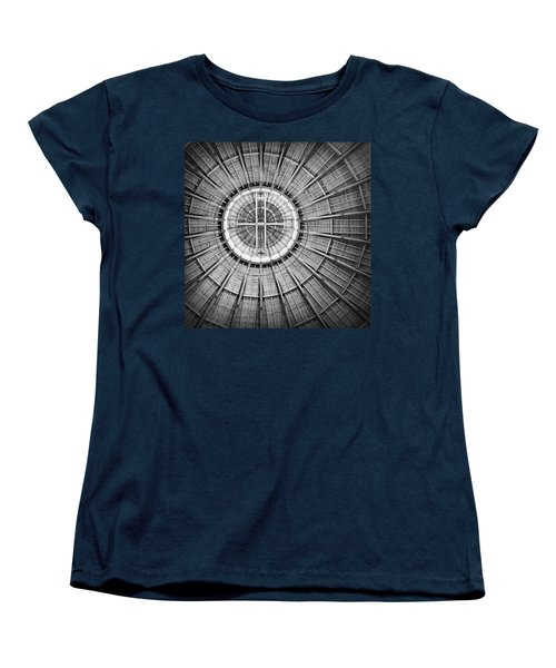 Roundhouse Architecture - Black And White Women's T-Shirt (Standard Cut) by Joseph Skompski
