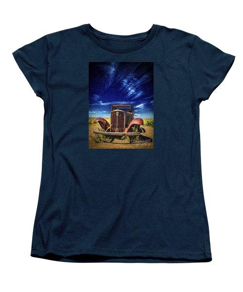 Women's T-Shirt (Standard Cut) featuring the photograph Route 66 Derelict  ... by Chuck Caramella