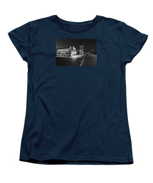Route 66 Santa Monica Black And White  Women's T-Shirt (Standard Cut)
