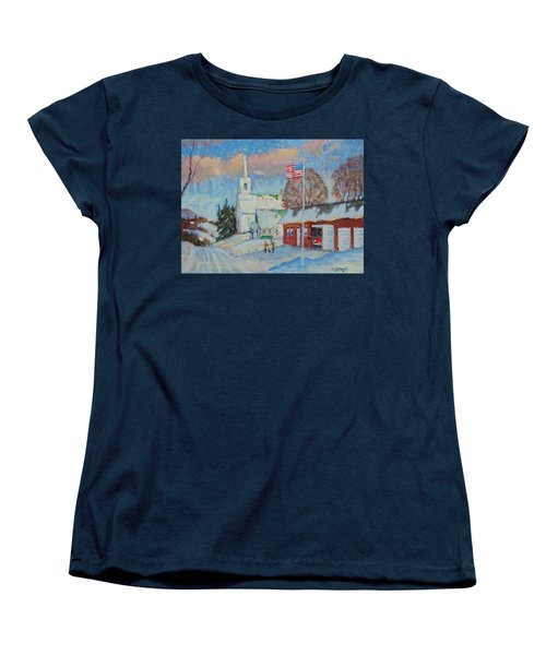Route 8 North Women's T-Shirt (Standard Cut) by Len Stomski
