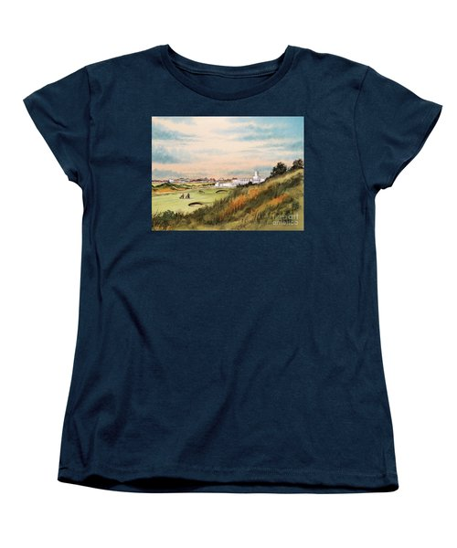 Royal Birkdale Golf Course 18th Hole Women's T-Shirt (Standard Cut) by Bill Holkham