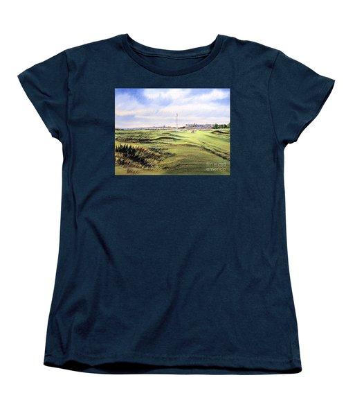 Royal Troon Golf Course Women's T-Shirt (Standard Cut) by Bill Holkham