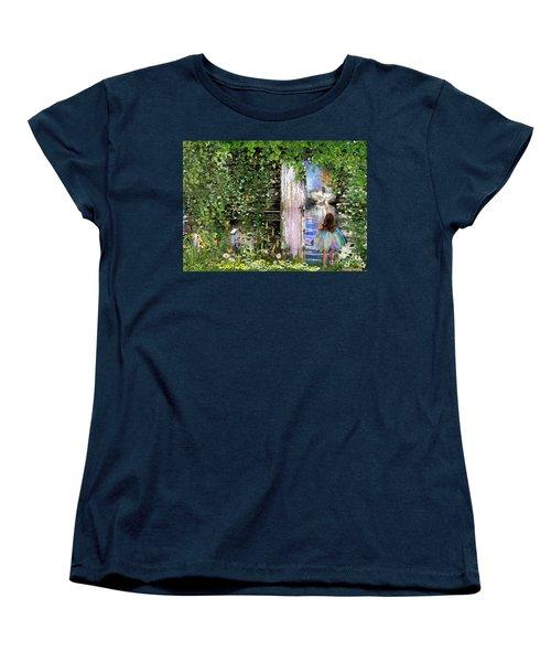 Women's T-Shirt (Standard Cut) featuring the digital art  Ruach Ha-kodesh by Dolores Develde