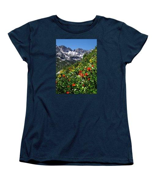 Ruby Mountain Wildflowers - Vertical Women's T-Shirt (Standard Cut) by Alan Socolik