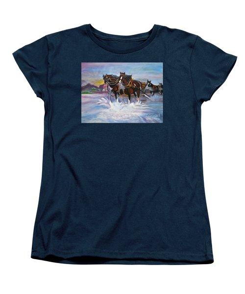 Running Horses- Beach Gallop Women's T-Shirt (Standard Cut)