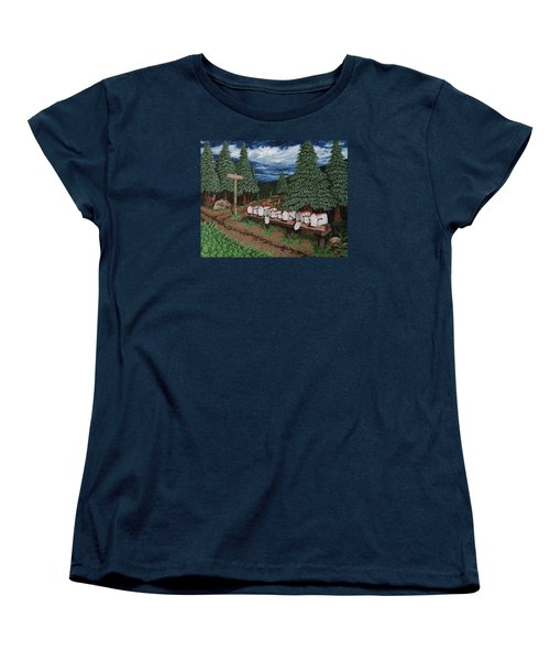 Women's T-Shirt (Standard Cut) featuring the painting Rural Delivery by Katherine Young-Beck
