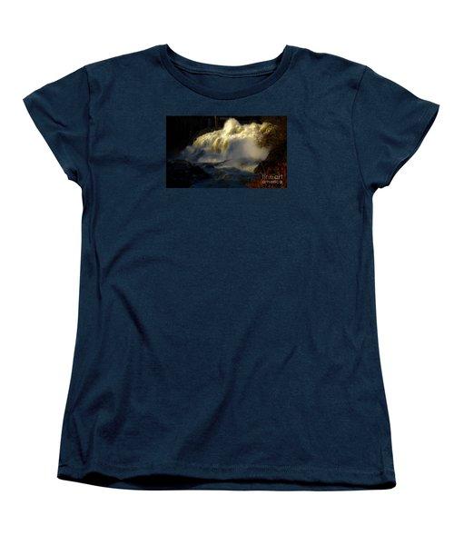 Rushing Water Women's T-Shirt (Standard Cut) by Sherman Perry