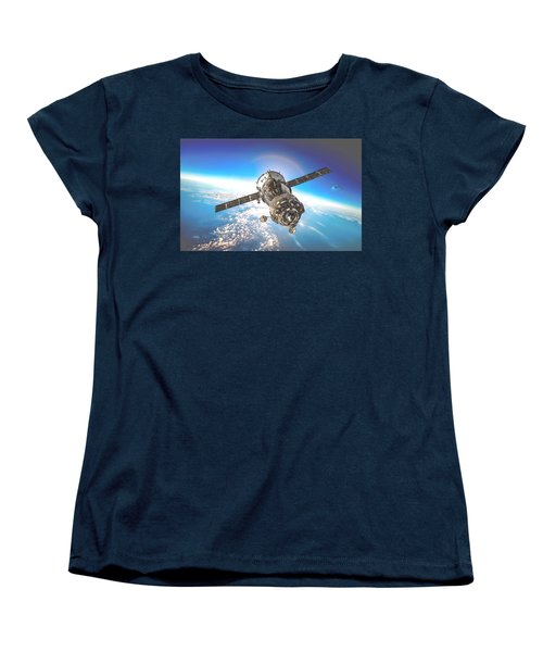 Majestic Blue Planet Earth Women's T-Shirt (Standard Cut) by Maciek Froncisz