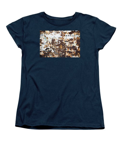 Women's T-Shirt (Standard Cut) featuring the photograph Rust And Torn Paper Posters by John Williams