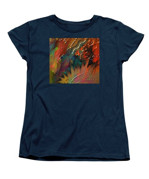 Women's T-Shirt (Standard Cut) featuring the painting Rust Never Sleeps by Kevin Caudill