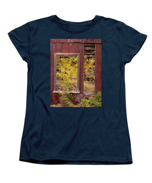 Women's T-Shirt (Standard Cut) featuring the photograph Rustic Autumn by Leland D Howard