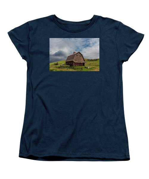 Rustic Barn Palouse Washington Women's T-Shirt (Standard Cut) by James Hammond