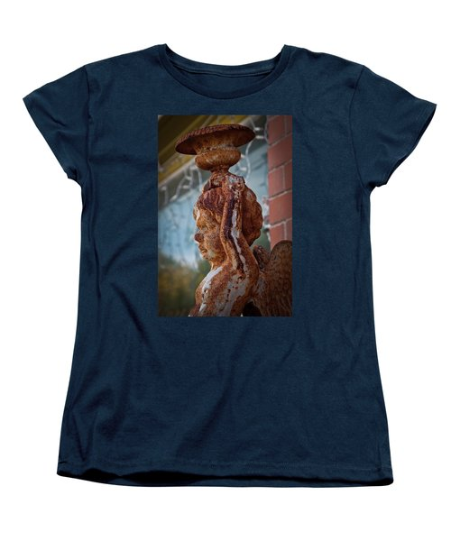 Women's T-Shirt (Standard Cut) featuring the photograph Rusty Angel by Linda Unger