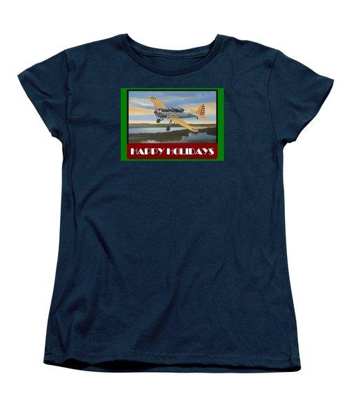 Ryan Pt-22 Happy Holidays Women's T-Shirt (Standard Cut) by Stuart Swartz