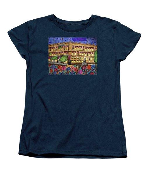 Women's T-Shirt (Standard Cut) featuring the painting S.m Stephenson Hotel by Jonathon Hansen