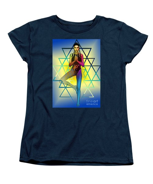 Women's T-Shirt (Standard Cut) featuring the digital art Sacred Geometry 2 by Shadowlea Is