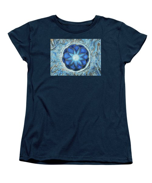 Women's T-Shirt (Standard Cut) featuring the mixed media Sacred Geometry by Angela Stout
