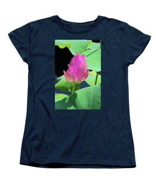Sacred Pink Women's T-Shirt (Standard Cut) by Inspirational Photo Creations Audrey Woods
