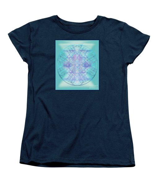 Women's T-Shirt (Standard Cut) featuring the digital art Sacred Symbols Out Of The Void A2b by Christopher Pringer