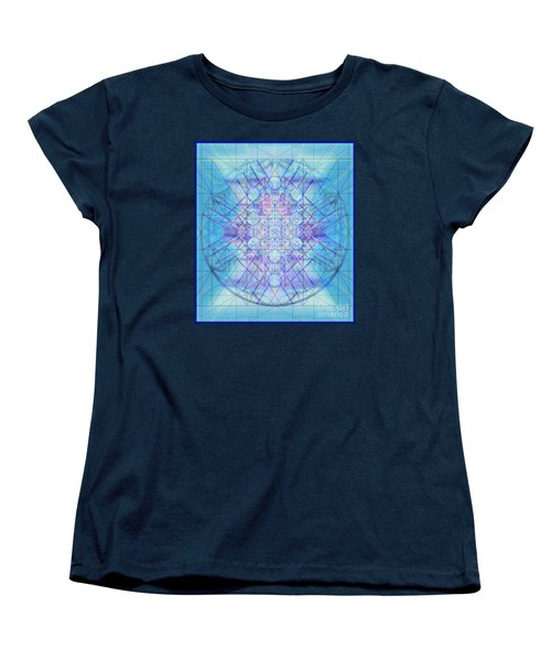 Women's T-Shirt (Standard Cut) featuring the digital art Sacred Symbols Out Of The Void A3c by Christopher Pringer