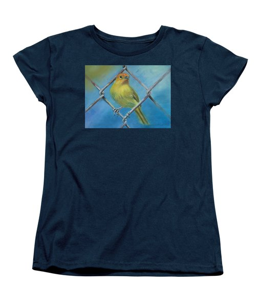 Safron Finch Women's T-Shirt (Standard Cut) by Ceci Watson