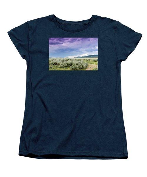 Women's T-Shirt (Standard Cut) featuring the photograph Sage Fields  by Dawn Romine