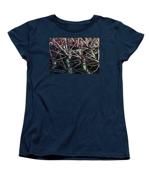 Women's T-Shirt (Standard Cut) featuring the photograph Saguaro Grid by Carolina Liechtenstein
