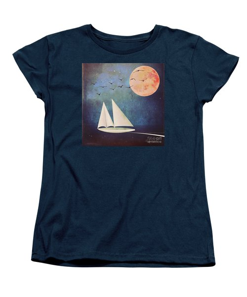 Sail Away Women's T-Shirt (Standard Cut) by Alexis Rotella