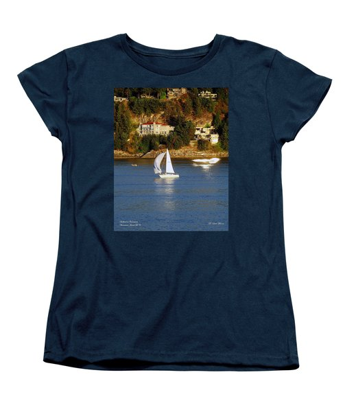 Sailboat In Vancouver Women's T-Shirt (Standard Cut) by Robert Meanor
