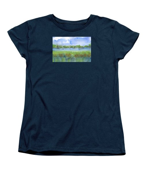 Sailboats At Beaufort Women's T-Shirt (Standard Cut) by Frank Bright