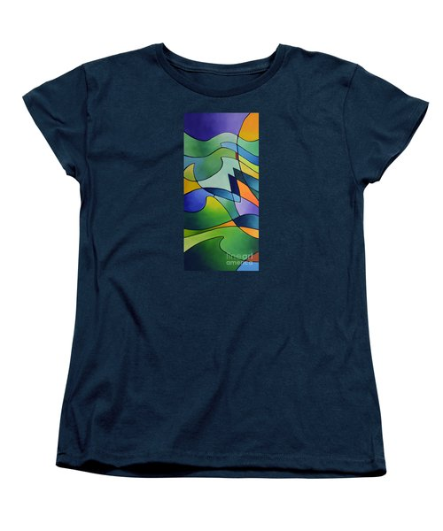 Sailing Away, Canvas One Women's T-Shirt (Standard Cut) by Sally Trace