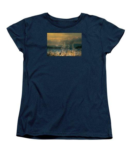 Sailing On The Winnipesaukee Women's T-Shirt (Standard Cut) by Mim White