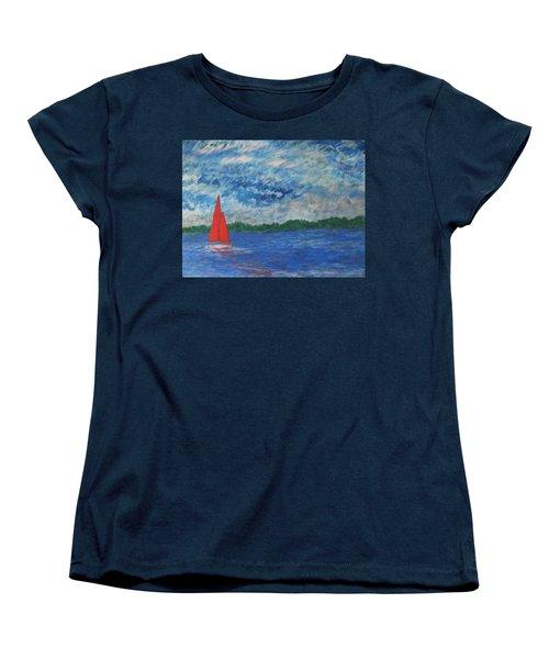 Sailing The Wind Women's T-Shirt (Standard Cut) by John Scates